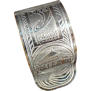 Vintage Souvenir Napkin Ring - Chicago 1933 Century of Progress