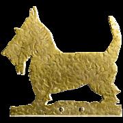 SOLD Scotty Dog Folk Art Doorstop - Solid Handcrafted Brass - Door Stop