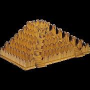 SALE Folk Art Pyramid - Burnt Match Stick Platform - Matchstick Art - Prison Art - Americana