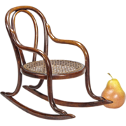 SALE Miniature Bentwood Rocker - Doll Furniture - Toy Chair