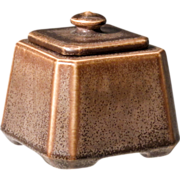SOLD 1924 Rookwood Inkwell with Original Insert - Three Pieces
