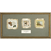 SALE Antique L. Prang Valentines with Silk Fringe from the Norcross Historical Collection - c.