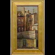 Philadelphia City Scape Oil on Canvas by Pennsylvania Artist Farris Woolston