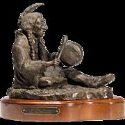Bronze Native American Indian Sculpture by Bill Henderson