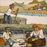 """Harvest Print - """"Lunch in the Field"""" - Signed Numbered Print"""