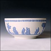 Large Wedgwood Reverse Jasper Ware Bowl - Sacrifice Figures - Jasperware