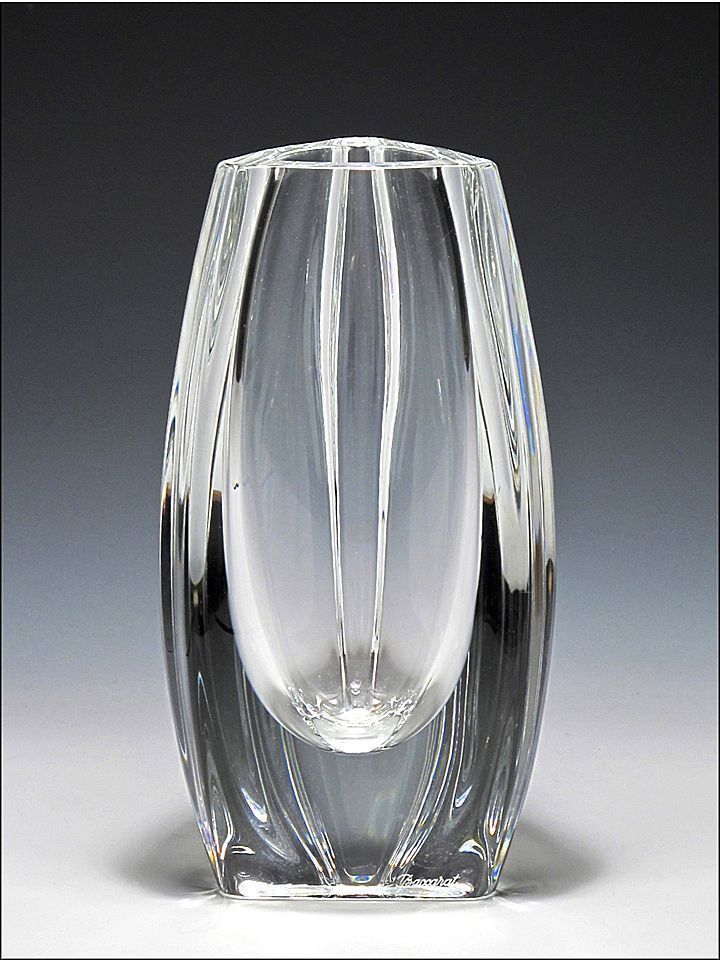 Signed Baccarat Crystal Bouton D Or Vase From Oh On Ruby Lane