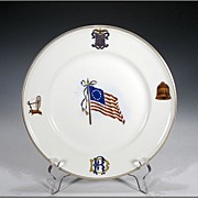 "SOLD Theodore Haviland ""Daughters of the Revolution"" American Flag Commemorative Pla"