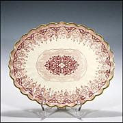 SOLD Antique Copeland Red Transferware Platter ( Spode ) 1847 - 1867 - Transfer Ware