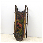 Antique Clipper Sled in Original Paint - 19th C - Folk Art - Americana - Primitives - Sleigh