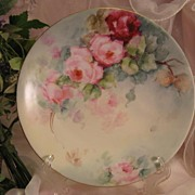 "SALE ""ROSES ROSES ROSES"" Gorgeous Antique Limoges France Hand Painted Victorian Porc"