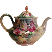 SALE Lovely Victorian Era Antique Limoges France Hand Painted Tea Pot or Coco Pot, circa ...