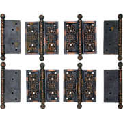 Victorian copper over cast iron hinges