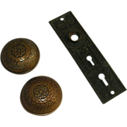 Solid cast bronze Windsor door knob set