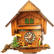 1960's Carved wooden cuckoo clock