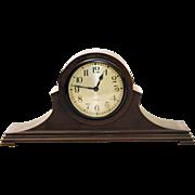 Vintage Waltham brown wooden mantel clock