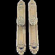 Brass ornate knob set for French doors