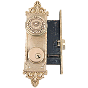 1900's Romanesque Lockwood mortise lock set