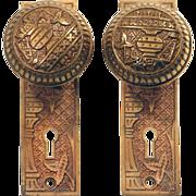 Lockwood complete Vernacular brass knob set