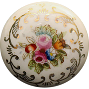 White porcelain hand painted knob