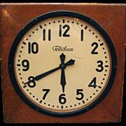 Vintage Telechron square clock