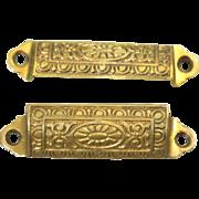 Ornate iron Eastlake cabinet  pulls