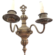 Bronze Regency style single two arm sconce