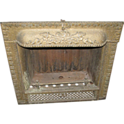 Victorian cast iron fire place insert