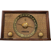 Vintage Zenith wooden cased radio