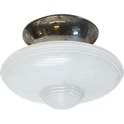 Vintage Art Deco milk glass fixture