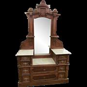 Eastlake marble top wooden vanity