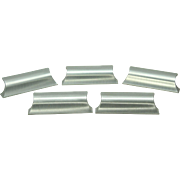 Set of Mid Century brushed steel pulls