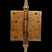 Bronze aesthetic ornate steeple tip hinge