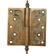 Steeple tip aesthetic ornate bronze hinge