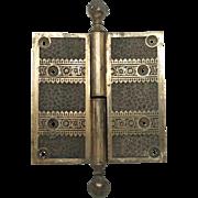 Bronze floral hinge