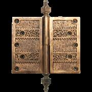 Highly ornate decorative hinge