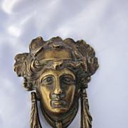 SOLD Victorian Figural Brass Door Knocker