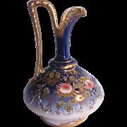 Antique Unmarked Austria Cobalt Ewer