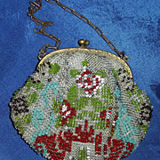 SALE Beaded Bag from The 1900's suitable for a Doll