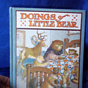 "SALE 1915 Edition of ""Doings of Little Bear"" by Frances M. Fox"