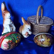 SALE Candy box Papier Mache Rabbits