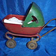 SALE Miniature Steel Doll Carriage for  a Doll