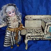 SALE Antique dollhouse Eagle stove