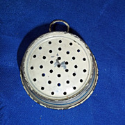 SOLD Enameled Colander for Room Box or Dollhouse