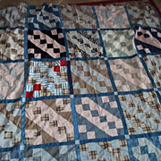 SALE Quilt Top Using Early Fabrics