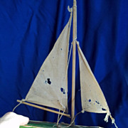 SALE Vintage 1950's Pond Boat for Large Doll to Hold