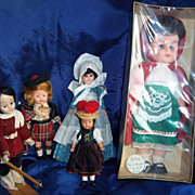 SALE Collection of five Small International Dolls