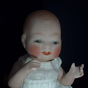 """SALE 6"""" Bisque Bye-lo with Tummy Sticker, Sleep Eyes, Jointed Neck"""