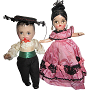 SOLD Two Composition Spanish Dolls from 40's