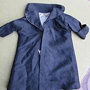 Black Silk Coat for Doll